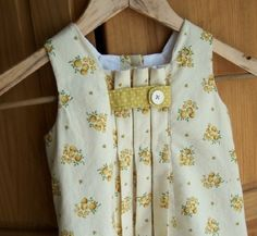 Summer Dress for Little girl....yellow vintage style