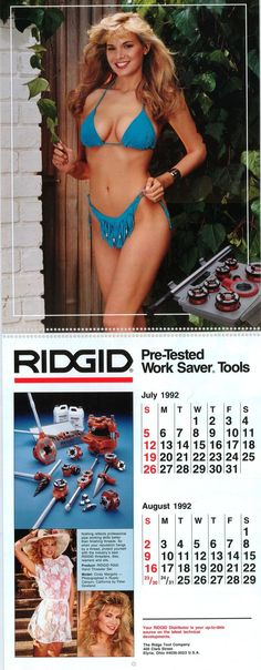 """RIDGID calendar model Cindy Margolis found her way into the 2000 Guinness Book of World Records for being the """"most downloaded"""" person in 1999."""