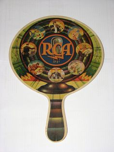"Vintage RCA Radiola Advertising Fan from the 1920s.  Measures 8"" x 11-3/8""."