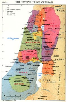 Maps-12 Tribes Of Israel