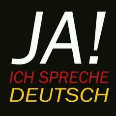 Ja! Ich spreche EIN BISSCHEN Deutsch  :-)