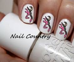 Browning nail art