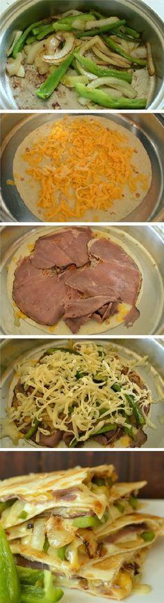 Philly Cheese Steak Quesadilla Recipe