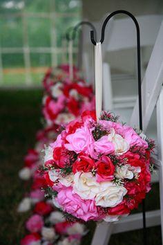 How to Make Silk Flower Pomanders  #Wedding #Weddings