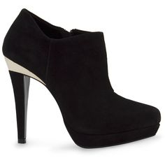 MANGO Suede Platform Ankle Boots ($70) ❤ liked on Polyvore