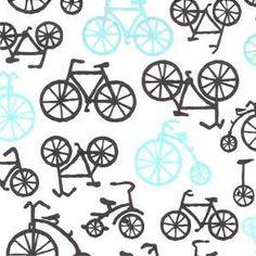 Michael Miller House Designer - Retro Mod - Bicycles in Haze