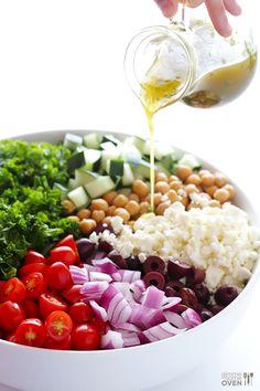 chopped. kale. greek.