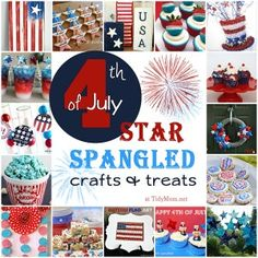 Star spangled crafts and treats for your Fourth of July party!