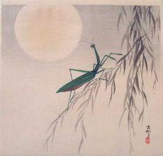 hazi moon, art japoné, art asiatico, koson ohara, japanes art