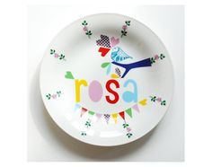 Adorable personalized plates for kids.
