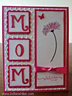 """MOM Birthday Card - Uses """"Reason To Smile"""" Stampin' Up set."""