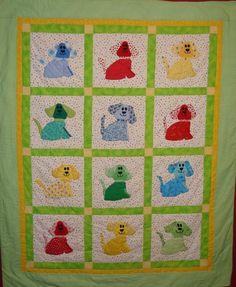 """Puppy Love"" baby quilt FREE pattern - via @Craftsy"