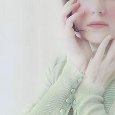 Ethereal Portrait Marie Mint Green Soft White Pale by #ellemoss #fpoe