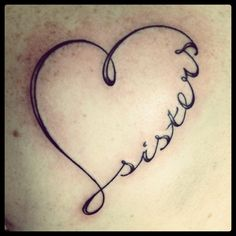 Sister tattoo @Sarah Chintomby Chintomby Chintomby Biedenbach  On the top of my left foot.....you?