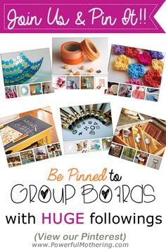 Join the Pinterest Party to pin and repin!