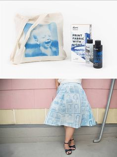 Create your own fashion photography! Or, uh… Photography fashion!  All you need is the Inkodye Photo Fabric Dye Kit + Sunshine.