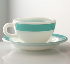 pretty turquoise pyrex