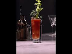 A classic, spicy and savory Bloody Mary cocktail recipe.