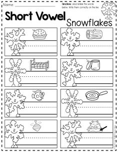 FREEBIE -- reading, writing, and math printables for winter. Perfect for after winter break! snowflak, math printabl
