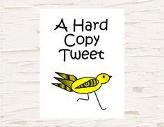 Funny Card, Note card, Greeting  Card, Blank Card, Tweet, Bird Card on Etsy, $3.50