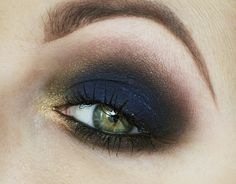 """Night Sky""by Candykiller using the Makeup Geek eye shadows Bada Bing, Neptune and Unicorn."