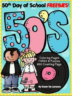 math, 100th, classroom, idea, fabul 50s, coloring, kindergarten, puzzl, 50th day of school