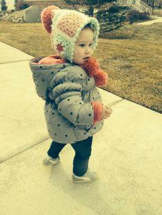 My darling niece Katea in her new bonnet. ♥