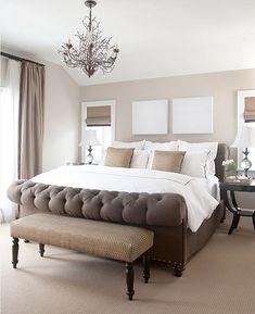 Benjamin Moore mocha cream walls for bedroom sleigh beds, wall colors, bed frames, color schemes, office colors, paint colors, master bedrooms, benjamin moore, wood walls