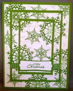 Snowflake Handmade Christmas Card.
