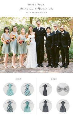 Great looks for mint themed weddings.
