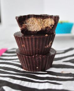 Clean Peanut Butter Cups.  A treat you can feel good about.  Vegan and gluten free.