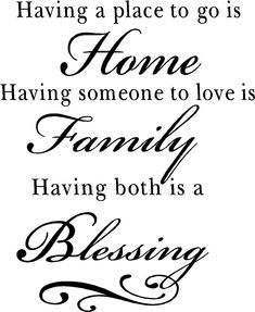 Having Both Home Family Blessing