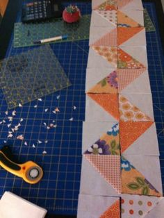 Zig Zag Quilt with half square triangles