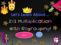 Lets Learn About 2X1 Multiplication With Regrouping! (Powerpoint) from Mrs Lane on TeachersNotebook.com -  (63 pages)  - Have fun and incorporate technology into your lessons by downloading this PowerPoint lesson on 2 Digit By 1 Digit Multiplication With Regrouping!