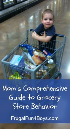 Mom's Guide to Grocery Store Behavior - a humorous post from a mom of 4 boys who often has to shop with all of them along!