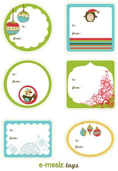 Free Christmas tags and place cards