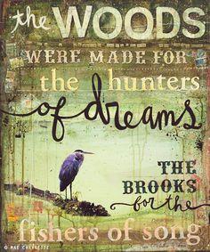 The Woods -   Mae Chevrette via Etsy.