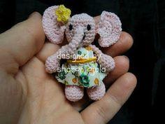 Gracie The Tiny Elephant Free Thread Crochet Pattern by Amigurumi To Go