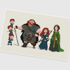 PDF Cross Stitch pattern : Brave : Pixar Disney Animation by PDFcrossstitch