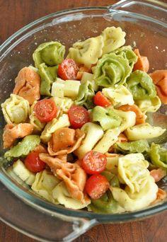 Cheesy Tortellini Pasta Salad
