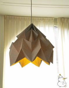 paper origami lampshade //light fold