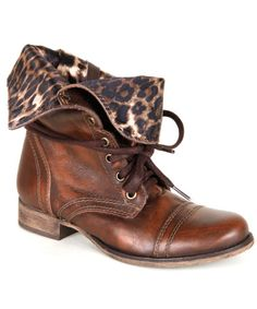 Betsy Johnson Leopard Combat Boot