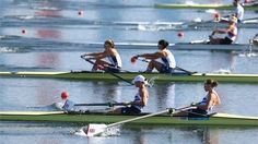 Helen Glover and Heather Stanning of Great Britain achieved a new Olympic Best of 6:57.29 to win their heat in the Women's Pairs, on Day 1 of the London 2012 Olympic Games at Eton Dorney on 28 July.