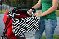 velcro & button snap to stroller diaper bag tutorial... My next sewing project.... maybe lol