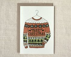 ugly sweater holiday card | Wit & Whistle