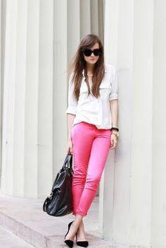 pantalones rosas