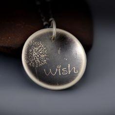 Sterling Silver Dandelion Wish Necklace by Lisa Hopkins Design