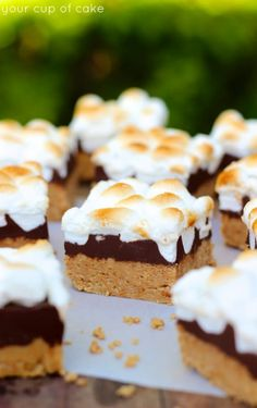 No Bake Peanut Butter S'more Bars - Your Cup of Cake