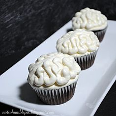 Not So Humble Pie: Chocolate Ganache Filled 'Brain' Cupcakes