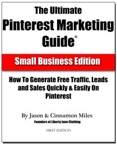 We've developed a free 33 page Ultimate Pinterest Marketing Guide for ya... Get it at http://www.marketingonpinterest.com. It chronicles the journey we're on to market Liberty Jane Patterns on Pinterest. See how we're doing by looking at our primary pinterest presence, http://pinterest.com/cinnamonmiles/